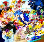 6+boys 6+girls aircraft airplane amy_rose animal aqua_eyes bark bean_the_dynamite beige_fur black_doom black_fur blaze_the_cat blonde_hair blue_fur book brown_hair chaos_emerald charmy check_character cheese_(sonic) chip_(sonic) chris_thorndyke closed_eyes closed_mouth clothed_animal commentary_request cream_the_rabbit dr._eggman dr._robotnik eggman_nega emerl_(sonic) espio everyone fang_(sonic) furry gloves green_eyes green_fur highres jet_(sonic) knuckles_the_echidna lavender_fur looking_at_viewer maria_robotnik marine_(sonic) metal_overlord metal_sonic mighty_the_armadillo multiple_boys multiple_girls multiple_tails oil_lamp open_mouth orange_fur pink_fur pixel_art princess_elise_(sonic_the_hedgehog) purple_fur red_footwear red_fur sara_(sonic) shade_(sonic) shadow_(sonic) shahra shoe_soles sideways_mouth silver_the_hedgehog smile sonic sonic_the_hedgehog storm_(sonic) tail tails_(sonic) vector_(sonic) wave_(sonic) white_gloves yellow_fur