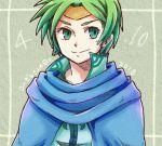 ! !! 1boy cape green_eyes green_hair male_focus naacien shizeru_(tear_ring_saga) solo tear_ring_saga vestaria_saga