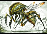 bug gia insect letterboxed monster no_humans original outdoors science_fiction signature stinger