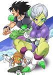 1girl 2boys absurdres alien breasts broly broly_(dragon_ball_super) cheelai dragon_ball dragon_ball_(classic) dragon_ball_super_broly highres multiple_boys pretty-purin720