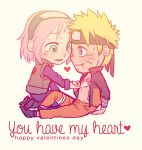 1boy 1girl chibi crying english haruno_sakura lowres naruto nightliight smile tagme tears uzumaki_naruto valentine