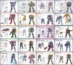 00_gundam 6+boys absurdres armor character_name character_sheet crossover emblem g-self ground_gundam gundam gundam_00 gundam_08th_ms_team gundam_g_no_reconguista highres kamen_rider kamen_rider_555 kamen_rider_agito kamen_rider_agito_(series) kamen_rider_amazon_omega kamen_rider_amazons kamen_rider_blade kamen_rider_blade_(series) kamen_rider_build kamen_rider_build_(series) kamen_rider_dcd kamen_rider_decade kamen_rider_den-o kamen_rider_den-o_(series) kamen_rider_double kamen_rider_drive kamen_rider_drive_(series) kamen_rider_ex-aid kamen_rider_ex-aid_(series) kamen_rider_faiz kamen_rider_fourze kamen_rider_fourze_(series) kamen_rider_gaim kamen_rider_gaim_(series) kamen_rider_ghost kamen_rider_ghost_(series) kamen_rider_hibiki kamen_rider_hibiki_(series) kamen_rider_kabuto kamen_rider_kabuto_(series) kamen_rider_kiva kamen_rider_kiva_(series) kamen_rider_kuuga kamen_rider_kuuga_(series) kamen_rider_nadeshiko kamen_rider_ooo kamen_rider_ooo_(series) kamen_rider_ryuki kamen_rider_ryuki_(series) kamen_rider_w kamen_rider_wizard kamen_rider_wizard_(series) kivat-bat_iii mecha mechanization multiple_boys multiple_views neon_trim no_humans no_pupils over_shoulder standing transformation v-fin weapon weapon_over_shoulder yanagi_joe