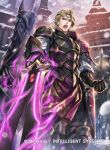 1boy armor blonde_hair copyright_name faceless faceless_male fire_emblem fire_emblem_cipher fire_emblem_if gloves helmet horse kuroba.k male_focus marks_(fire_emblem_if) nintendo official_art open_mouth polearm red_eyes snowing spear sword teeth tiara weapon