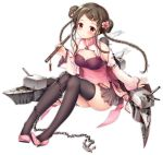 1girl alternate_costume azur_lane bangs bare_shoulders belt black_bodysuit black_hair black_legwear blush bodysuit braid breasts brown_eyes brown_skirt cannon chains china_dress chinese_clothes chinese_new_year cleavage cleavage_cutout closed_mouth covered_navel detached_sleeves double_bun dress expressions flower full_body hair_flower hair_ornament hairclip hat high_heels holding holding_instrument instrument kimberly_(azur_lane) knees_up legs_together long_sleeves multicolored_hair official_art opium_pipe parted_bangs pelvic_curtain pink_dress pink_flower pink_footwear pink_hair pleated_skirt rigging see-through sidelocks sitting skindentation skirt small_breasts smile solo sousouman tearing_up thigh-highs thighs transparent_background twin_braids weapon