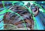 black_border border drill exhaust_pipe foreshortening goggles goggles_on_head harukaze_shizuru kirby kirby:_planet_robobot kirby_(series) mecha nintendo robobot_armor speed_lines spinning