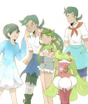 2boys 2girls brother_and_sister creatures_(company) dark_skin dark_skinned_male family father_and_daughter father_and_son flower game_freak gen_4_pokemon gen_7_pokemon green_eyes green_hair hair_flower hair_ornament haruka_(hijio-sun) husband_and_wife long_hair mao's_father_(pokemon) mao's_mother_(pokemon) mao_(pokemon) mother_and_daughter mother_and_son multiple_boys multiple_girls nintendo pokemon pokemon_(anime) pokemon_(game) pokemon_sm pokemon_sm_(anime) shaymin siblings tsareena ulu_(pokemon)