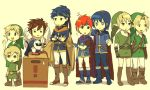 1other 6+boys blue_hair box brown_hair cape dual_persona father_and_son fire_emblem fire_emblem:_fuuin_no_tsurugi fire_emblem:_monshou_no_nazo fire_emblem:_souen_no_kiseki gloves hairband hal_laboratory_inc. headband hoshi_no_kirby ike intelligent_systems kid_icarus kirby_(series) konami link male marth meta_knight metal_gear_solid nintendo pit pointy_ears project_m red_hair redhead roy roy_(fire_emblem) solid_snake sora_(company) super_smash_bros. super_smash_bros._ultimate super_smash_bros_brawl super_smash_bros_melee the_legend_of_zelda the_legend_of_zelda:_ocarina_of_time the_wind_waker toon_link twilight_princess wings young_link