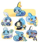 artist_name black_eyes blue_eyes blush_stickers brown_eyes creatures_(company) croagunk froakie fusion game_freak gen_1_pokemon gen_3_pokemon gen_4_pokemon gen_5_pokemon gen_6_pokemon gen_8_pokemon highres jellyenvy looking_at_viewer mudkip nintendo no_humans open_mouth pokemon pokemon_(creature) poliwag signature smile sobble squirtle turtle_shell tympole