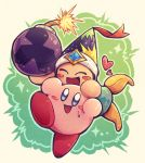 13mimi ^_^ blush_stickers bomb closed_eyes closed_eyes gem hat heart kirby kirby's_dream_land kirby_(series) nintendo no_humans open_mouth poppy_bros_jr ribbon smile sweat weapon