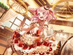 bang_dream! blush dress long_hair maruyama_aya pink_eyes pink_hair smile twintails valentines