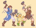 ... 3boys armpits axe blonde_hair blush_stickers boots bracer brown_footwear brown_hair castlevania clenched_hands gloves hammer hammer_brothers headband helmet highres holding holding_weapon jeepochu konami male_focus mario_(series) multiple_boys muscle nintendo pelvic_curtain richter_belmondo shell simon_belmondo sleeveless smile super_mario_bros. super_smash_bros. super_smash_bros._ultimate turtle weapon