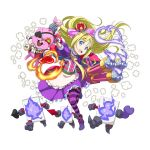 1girl :d alice_in_wonderland alice_schuberg apron belt blonde_hair blue_eyes boots bow choker clock collarbone crown flat_chest floating_hair frilled_apron frilled_skirt frills full_body gauntlets hair_bow highres holding long_hair medium_skirt official_art open_mouth outstretched_arm pink_bow purple_footwear purple_legwear purple_skirt red_bow skirt smile solo striped striped_bow striped_legwear stuffed_animal stuffed_toy sword_art_online thigh-highs transparent_background very_long_hair waist_apron white_apron younger