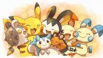 creatures_(company) dedenne emolga game_freak gen_1_pokemon gen_3_pokemon gen_4_pokemon gen_5_pokemon gen_6_pokemon gen_7_pokemon minun nintendo no_humans pachirisu pikachu plusle pokemon pokemon_(creature) roku_(rokkrn) togedemaru