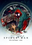 1boy bodysuit cargo_shorts city cityscape copyright_name hood hoodie jumping marvel mask miles_morales night nike rinbukyoku shoes shorts sneakers solo spider-man:_into_the_spider-verse spider-man_(series) spider_web_print superhero