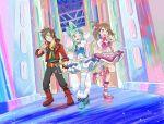 1boy 2girls commentary creatures_(company) english_commentary game_freak haruka_(pokemon) highres lucia_(pokemon) multiple_girls nintendo pokemon pokemon_(game) pokemon_oras yamato-leaphere yuuki_(pokemon)