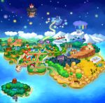 castle desert forest highres island mansion map muzyoshi nature ocean paper_mario railroad_tracks snow town tree