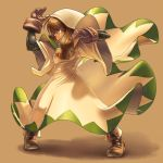 1girl blonde_hair bodysuit_under_clothes braid breasts commentary_request dress final_fantasy final_fantasy_tactics gloves hood long_hair momigara_(mmgrkmnk) muscle robe solo twin_braids twintails white_dress white_mage white_mage_(fft)