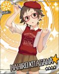 blush brown_hair character_name dress glasses idolmaster idolmaster_cinderella_girls kitagawa_mahiro red_eyes short_hair sketch stars