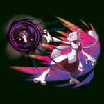 creatures_(company) energy_ball game_freak gen_1_pokemon mewtwo nintendo no_humans official_art pokemon pokemon_(creature) pokemon_(game) pokemon_lgpe shadow_ball tail