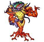 arm_cannon bikini extra_arms extra_legs extra_mouth godslush metroid mutant nintendo purple_bikini sa-x swimsuit weapon