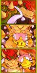 bowser comic commentary english_commentary highres mario_(series) molten_rock nintendo redhead sindraws super_crown super_mario_bros.