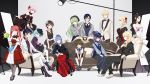 5boys 6+girls ada_(honkai_impact) ankle_ribbon aqua_eyes ascot bag bangs beige_jacket black_blouse black_footwear black_hair black_jacket black_neckwear black_ribbon black_skirt blonde_hair blouse blue_blouse blue_eyes blue_hair blue_neckwear blue_ribbon blue_vest boots bow bowtie braid breasts brown-framed_eyewear brown_eyes brown_gloves brown_hair choker cici cleavage_cutout closed_mouth collarbone collared_blouse collared_shirt couch curly_hair detached_collar detached_sleeves dress dress_lift drill_hair earrings edison_(honkai_impact) einstein_(honkai_impact) elbow_gloves elbow_on_another's_shoulder elbow_rest expressionless floating flower frills fu_hua full_body glasses gloves green_hair green_neckwear grey_coat grey_footwear grey_legwear grey_skirt grey_vest hair_ornament hair_over_shoulder hair_ribbon hairband half-closed_eyes handbag hands_together hat hat_ribbon heterochromia high-waist_skirt high_heels highres holding holding_arms holding_flower holding_handbag honkai_(series) honkai_impact_3 jacket jewelry large_breasts layered_skirt lifted_by_self light_blue_hair loafers long_dress long_hair long_skirt long_sleeves looking_at_viewer mecha medium_breasts multicolored multicolored_clothes multicolored_dress multiple_boys multiple_girls nail_polish necklace necktie nikola_tesla_(honkai_impact) off-shoulder_dress off_shoulder official_art open_clothes open_jacket open_mouth otto_apocalypse pants pantyhose pink_hair planck ponytail puffy_short_sleeves puffy_sleeves purple_flower purple_hair purple_rose purple_shirt reanna_brigantia red-framed_eyewear red_eyes red_footwear red_lips red_nails red_neckwear red_ribbon redhead ribbon rose schrodinger_(honkai_impact) shirt shoes short_hair short_sleeves shorts side_drill sidelocks sitting skirt smile socks standing strapless strapless_dress stud_earrings suspender_shorts suspenders tied_hair twintails veil very_long_hair vest violet_eyes walter_young welt_joyce white_choker white_dress white_footwear white_gloves 