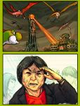 black_hair comic commentary english_commentary english_text highres lord_of_the_rings mario_(series) miyamoto_shigeru nintendo real_life sauron sindraws super_mario_bros. super_smash_bros. yoshi