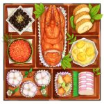 food food_request from_above kngegt lobster no_humans original roe wagashi