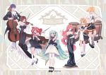 2018 2019 2boys 5girls :d artist_name baton_(instrument) black_ribbon blonde_hair blue_eyes blue_hair bow bow_(instrument) bowtie brown_hair cello chris4708 clarinet commentary_request copyright_name detached_sleeves dress drill_hair drum drumsticks elbow_gloves eyebrows_visible_through_hair formal full_body gloves hair_ornament hair_ribbon hairclip hatsune_miku high_heels holding holding_instrument instrument kagamine_len kagamine_rin kaito kasane_teto long_dress long_hair marimba megurine_luka meiko miku_symphony_(vocaloid) multiple_boys multiple_girls music open_mouth outstretched_arms pink_hair redhead ribbon short_dress short_hair sleeveless sleeveless_dress smile socks standing thigh-highs trumpet twintails utau very_long_hair violin vocaloid white_dress white_gloves white_legwear white_neckwear white_ribbon