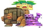 bummerdude commentary creature creatures_(company) english_commentary exeggutor full_body game_freak gen_1_pokemon golem_(pokemon) looking_at_viewer muk nintendo no_humans pokemon pokemon_(creature) simple_background white_background