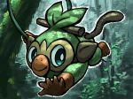 creature creatures_(company) full_body game_freak gen_8_pokemon highres kasai_(pixiv24704749) monkey nature nintendo no_humans plant pokemon pokemon_(creature) solo tree vines