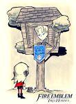 1boy 1girl axe blue_eyes cape chibi dimitri_alexandre_bladud_(fire_emblem) edelgard_von_hresvelgr_(fire_emblem) fire_emblem fire_emblem:_fuukasetsugetsu intelligent_systems nintendo pun red_cape setz tree treehouse