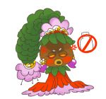 angry deku_princess dress flower leaf makeup nintendo no_symbol purple_earrings red_dress the_legend_of_zelda the_legend_of_zelda:_majora's_mask weeeeps