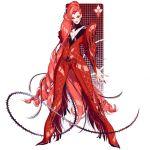 1girl adapted_costume batman_(series) bayonetta bodysuit chostoper_hill dc_comics detached_collar eyeshadow high_heels long_hair makeup poison_ivy ringlets solo very_long_hair whip