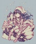 1girl bangs beanie bird blunt_bangs blush boots creature creatures_(company) game_freak gen_4_pokemon hair_ornament hat hikari_(pokemon) holding holding_poke_ball long_hair long_sleeves looking_at_viewer monochrome nintendo pachirisu parororo pine_tree piplup poke_ball pokemon pokemon_(creature) pokemon_(game) pokemon_dppt pokemon_platinum pokemon_trainer scarf sitting smile snover star tree winter_clothes
