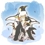 animal animalization bird commentary_request emperor_penguin emperor_penguin_(kemono_friends) gentoo_penguin gentoo_penguin_(kemono_friends) highres humboldt_penguin humboldt_penguin_(kemono_friends) kemono_friends margay margay_(kemono_friends) no_humans penguin penguins_performance_project_(kemono_friends) rockhopper_penguin rockhopper_penguin_(kemono_friends) royal_penguin royal_penguin_(kemono_friends) sandwiched taoi_(taoi58829762)