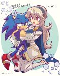 1boy 1girl animal armor barefoot blue_cape blue_eyes cape crossover female_my_unit_(fire_emblem_if) fire_emblem fire_emblem_if furry gloves hair_between_eyes hair_ornament hairband highres hug intelligent_systems kiriya_(552260) long_hair mamkute my_unit_(fire_emblem_if) nintendo pointy_ears red_eyes sega shoes silver_hair smile sneakers sonic sonic_the_hedgehog sora_(company) super_smash_bros. super_smash_bros._ultimate super_smash_bros_for_wii_u_and_3ds white_hair