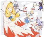 06erunium breasts closed_mouth commentary_request dress final_fantasy final_fantasy_tactics highres long_hair multiple_boys multiple_girls white_dress