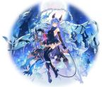 1girl absurdres animal_ears bare_shoulders black_gloves black_legwear blue_eyes breasts closed_mouth covered_navel dress earrings elbow_gloves erune ferry_(granblue_fantasy) full_body gloves granblue_fantasy hair_ornament high_heels highres jewelry long_hair looking_at_viewer o-ishi short_dress sideboob small_breasts smile solo thigh-highs thigh_strap very_long_hair whip yellow_eyes