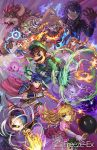 2girls amamiya_ren aura black_hair blonde_hair blue_hair bob-omb bowser bowser_jr. creatures_(company) fire fire_emblem freeze-ex game_freak gen_1_pokemon gen_7_pokemon giga_bowser gloves headband ike incineroar kirby kirby_(series) looking_at_viewer luigi mario_(series) meta_knight mewtwo mother_(game) mother_2 motion_blur multiple_boys multiple_girls ness nintendo persona persona_5 pokemon princess_peach princess_zelda super_mario_bros. super_smash_bros. sword the_legend_of_zelda weapon