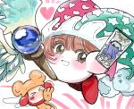90s angel_wings blush brown_eyes brown_hair card_captor_sakura hat hoshi_no_kirby hoshi_no_kirby_super_deluxe hoshi_no_kirby_ultra_super_deluxe jester_cap kero_(card_captor_sakura) kero_(card_captor_sakura)_(cosplay) kinomoto_sakura kinomoto_sakura_(cosplay) kirby kirby_(series) kirby_super_star kirby_super_star_ultra looking_at_viewer madhouse_(studio) meta_knight nintendo parody smile super_smash_bros. tv_tokyo waddle_dee wand wings wokaya