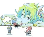 +_+ 1girl armlet bracelet figure hair_ornament jewelry kamina kokura_(mk60112) lowres multicolored_hair nia_teppelin simon solo tengen_toppa_gurren_lagann two-tone_hair yoko_littner