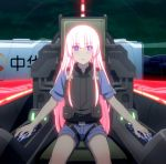 cockpit girly_air_force gripen_(girly_air_force) highres long_hair pink_hair screencap stitched third-party_edit violet_eyes