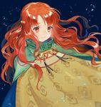 1girl curly_hair dress fire_emblem fire_emblem:_akatsuki_no_megami fire_emblem_heroes intelligent_systems kyufe long_hair looking_at_viewer nintendo orange_eyes orange_hair simple_background smile solo spoilers yune