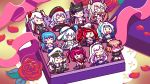6+girls animal_ears atago_(azur_lane) azur_lane belfast_(azur_lane) box chibi enterprise_(azur_lane) flower graf_zeppelin_(azur_lane) helena_(azur_lane) highres hiryuu_(azur_lane) honolulu_(azur_lane) illustrious_(azur_lane) in_box in_container military military_uniform minigirl momo_noguiko multiple_girls petals prinz_eugen_(azur_lane) ribbon roon_(azur_lane) rose rose_petals san_diego_(azur_lane) uniform valentine yuudachi_(azur_lane)