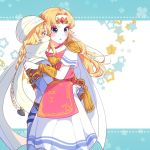 2girls androgynous bandage blonde_hair bracer braid carrying circlet dark_skin earrings forehead_jewel hat indisk_irio jewelry long_hair mask multiple_girls nintendo pointy_ears princess_carry princess_zelda reverse_trap sheik super_smash_bros. surcoat the_legend_of_zelda the_legend_of_zelda:_a_link_between_worlds the_legend_of_zelda:_breath_of_the_wild the_legend_of_zelda:_ocarina_of_time tiara triforce tunic turban