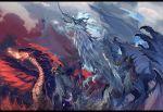 der_vasa_rau dragon fennachtur fire highres murok no_humans outdoors pixiv_fantasia pixiv_fantasia_last_saga red_eyes rererenoren sostenuto