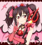 black_hair commentary commentary_request demon_horns demon_tail demon_wings horns karamoneeze love_live! love_live!_school_idol_project red_eyes tail tiara twintails wings yazawa_nico