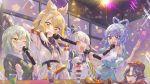 5girls absurdres food hat highres ice_cream kaku_seiga miyako_yoshika momo_(baso4) mononobe_no_futo multiple_girls music party singing soga_no_tojiko touhou toyosatomimi_no_miko
