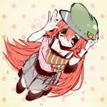 1girl 2013 :3 flaky happy_tree_friends hat red_eyes redhead simple_background yurushako